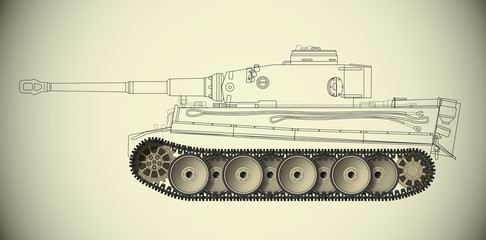Plan char Tigre roulements