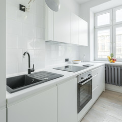 White kitchen with sink