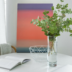 Table with vase and painting