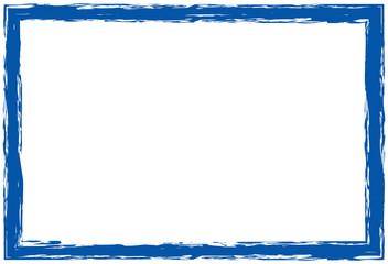 gepinselter Rahmen, blau, ohne Inhalt