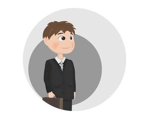 Man avatar Vector. Businessman, teacher or manager profession Vector. cartoon characters
