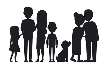 All Family Members Gathered Together, Vector Card