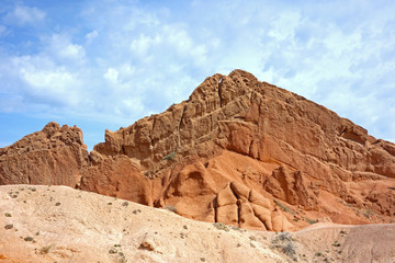 Colorful rock formations in  Fairy tale canyon (Skazka), Kyrgyzstan