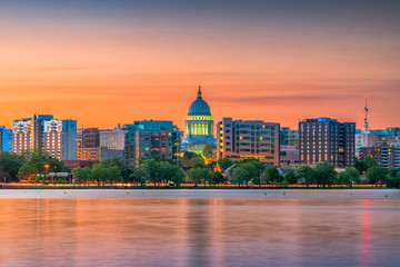 Wall Mural - Madison, Wisconsin, USA Skyline