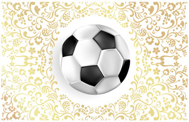 Football background with soccer ball.