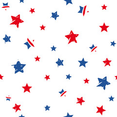 american holidays seamless pattern with stars
