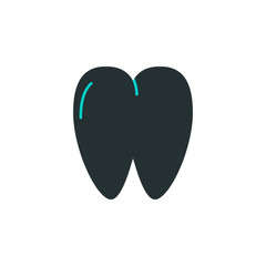 tooth icon. Element of web icon with one color for mobile concept and web apps. Isolated tooth icon can be used for web and mobile