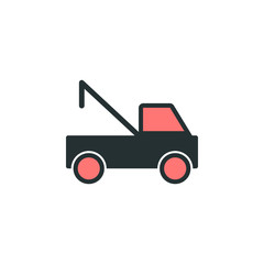 wrecker icon. Element of web icon with one color for mobile concept and web apps. Isolated wrecker icon can be used for web and mobile