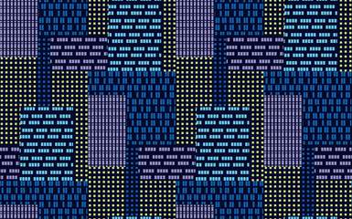 Abstract big city skyscrapers seamless pattern.