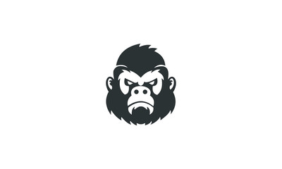 gorilla head ilustration vector