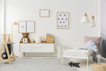 Scandi kid's bedroom interior