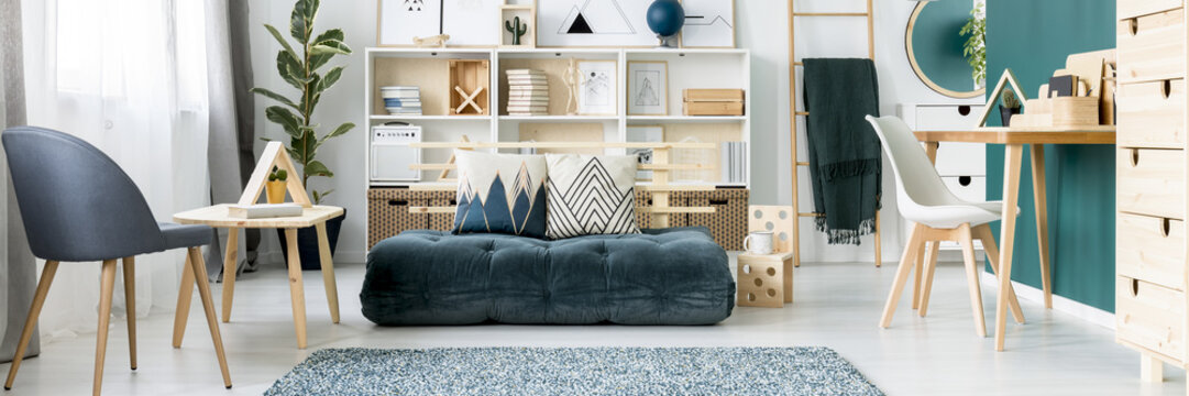 Teenager room with scandinavian design