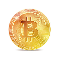 Bitcoin icon. Digital currency