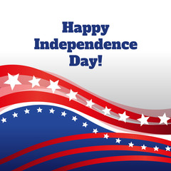 Happy Independence day greeting abstract background