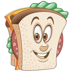 Sandwich. Happy Fast Food concept.