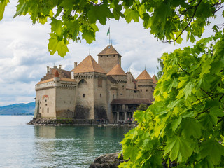 Chillon Castle - The medieval fortress on the shores of Lake Geneva