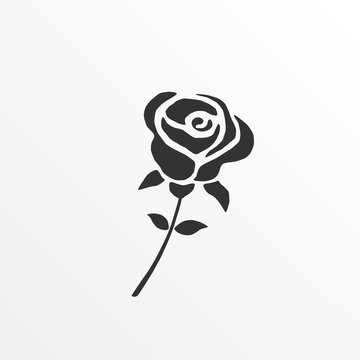 Rose silhouette Icon.