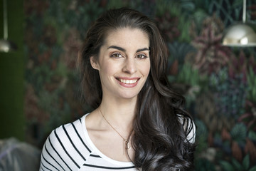 Portrait of a beautiful, smiling young woman