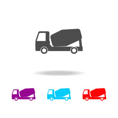 concrete mixer icon. Elements of cars in multi colored icons. Premium quality graphic design icon. Simple icon for websites, web design, mobile app, info graphics