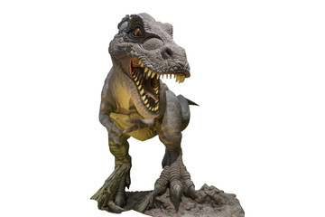 Siamotyrannus isanensis Model on white background. Tyrannosaurus Dinosaurs. clipping path.