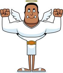 Cartoon Angry Angel
