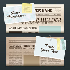 Vintage Newspaper Banners