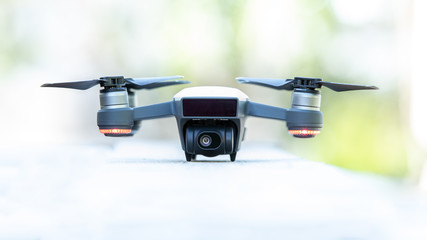 Small White Flying Camera Drone