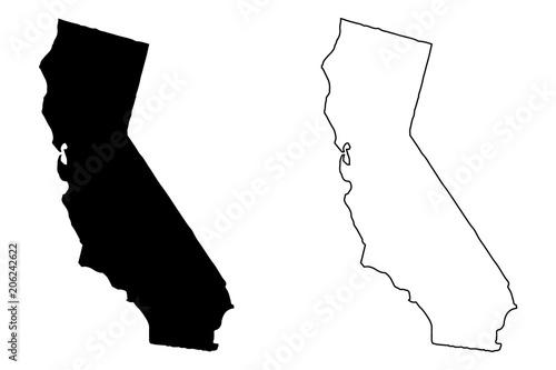 California Map Download.California Map Vector Illustration Scribble Sketch California Map