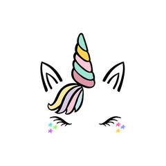 Cute unicorn face.