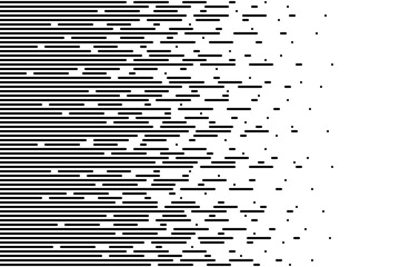 Halftone gradient lines Speed abstract pattern Isolated object on white background vector illustration
