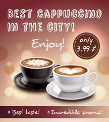 Coffee Advertisement Art Poster