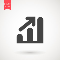 Graph Icon in trendy flat style isolated on grey background. Chart bar symbol for your web site design, logo, app, UI. Vector illustration, EPS10