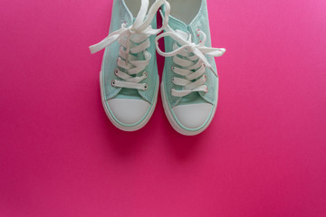 Sneakers on pink 5 Wall mural