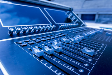 Profesional studio equipment for sound mixing .