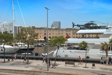 Escena en el puerto de Barcelona