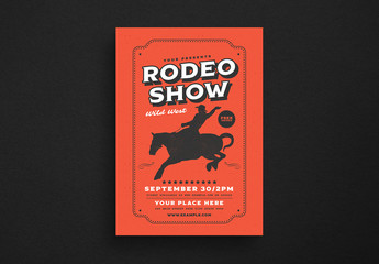 Rodeo Event Flyer Layout