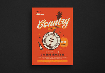 Country Music Event Flyer Layout