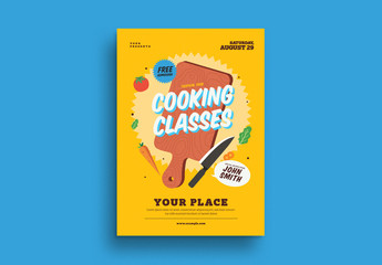 Cooking Classes Event Flyer Layout