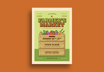 Farmer's Market Event Flyer Layout