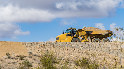 Haul truck on a construction site
