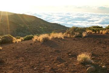 ..............Spanien, Teneriffa, Sonnenuntergang, Teide, Vulkan