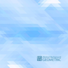 Abstract light blue background of triangles. Vector. For printing, web, packaging, design