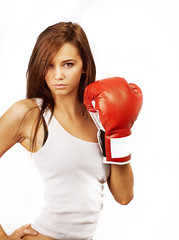 Attractive woman inner strength concept image