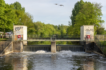 Wasserwehr in Eschersheim einem Stadtteil in Frankfurt am Main