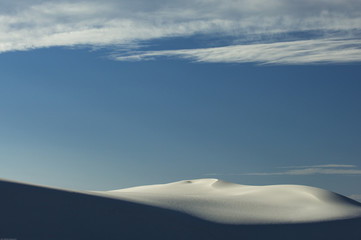 Clouds and solitude surround the dunes of White Sands National Monument, New Mexico.