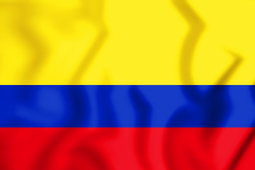 3D Flag of Colombia.