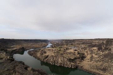Snake River Canyon aerial view
