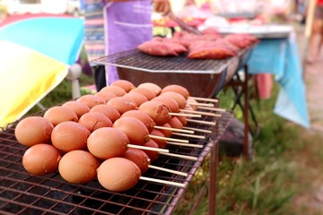 grilled egg at street food