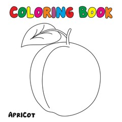 Apricot Coloring Book, Coloring Page For Kids and Children