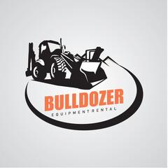 Bulldozer Logo Designs Template